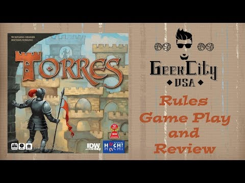 Torres - Rules, Game Play Example, and Review - 2017 IDW Edition
