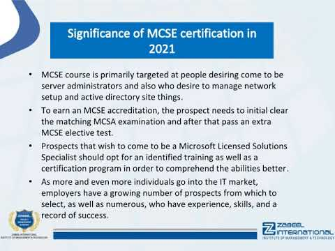 MCSE course – What is the MCSE certification salary? - YouTube