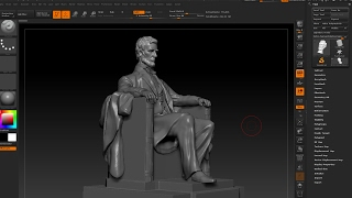 Gambar cover First Live Stream Recorded - Modeling Abraham Lincoln Statue in Zbrush Timelapse