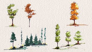 Drawing Trees For Architectural Sketches