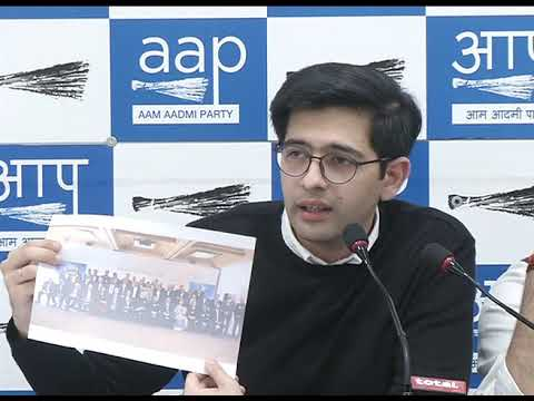 RS Member Sanjay Singh along with Aap leader briefs on Rs 11,000 Crore Scam of Modi Govt