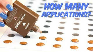 How Many Applications In The Benefit Hello Happy Foundation?   THE MAKEUP BREAKUP