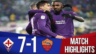 Fiorentina Vs Roma 7-1 L All Goals & Extended Highlights L