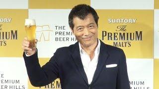 矢沢永吉、芸能会見に初登場 ザ・プレミアム・モルツで乾杯「ザ・プレミアムビールヒルズ」記者説明会