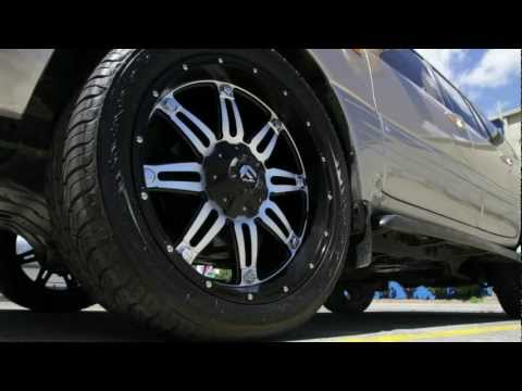 Lexus LX470 custom rims 22 inch Fuel Hostage custom wheels