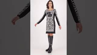 Vorschau: Midi Strickkleid im Animal Look