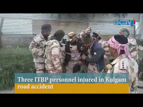 Three ITBP personnel injured in Kulgam road accident