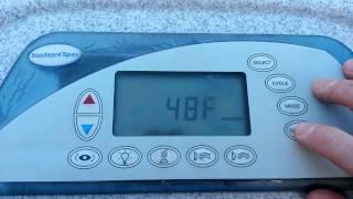 Hot Tub Not Hot Enough? 104° Temperature Override  (:1:) Sundance Spas pre-2009