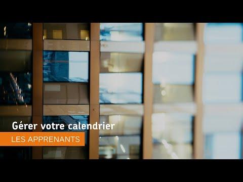 Naviguer dans Environnement d'apprentissage de Brightspace - Gérer votre calendrier - les apprenants
