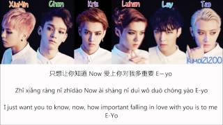 EXO-M - Run (奔跑) [Chinese/PinYin/English] Color Color & Picture Coded HD