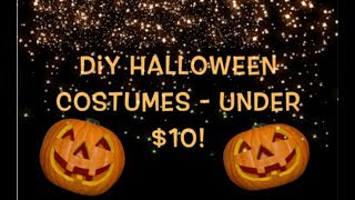 DIY Halloween Costumes - Under $10    Dollar Tree    Girls And Boys