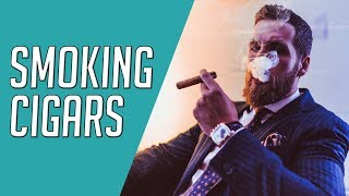 Cigar Expert Teaches How To PROPERLY Smoke Cigars || Gents Lounge W/ Puro Trader