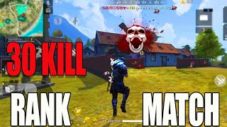 30 kill rank match in free fire|| Rush Gameplay in free fire|| Run Gaming tamil