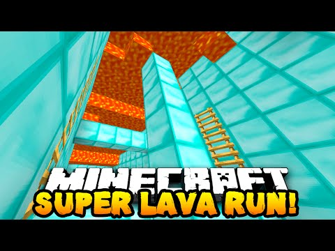 Minecraft SUPER LAVA RUN PARKOUR! (Race Against Lava!) w/PrestonPlayz & MrWoofless
