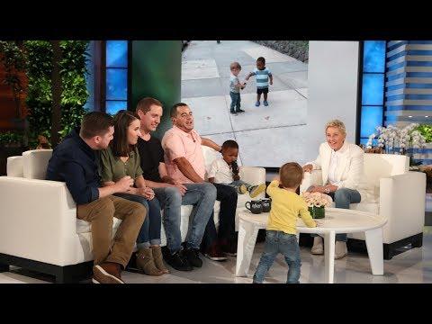 Ellen Meets Adorable Viral Hugging Toddlers