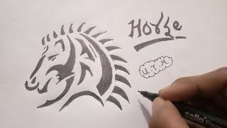 How To Draw A Tribal Horse Tattoo