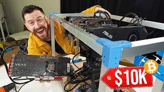 I Built A Bitcoin Mining Rig That PROFITS $10,000/year!!