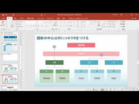 PowerPoint 2016 ワンランク上の使い方:図形の中心以外にコネクタをつける|Lynda.com 日本版