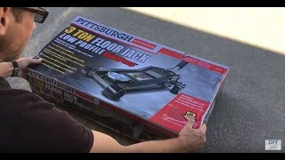 Harbor Freight Pittsburgh 3 Ton Low Profile Floor Jack (Ready to Use in 3 minutes) Un-box & Review
