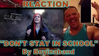 Dont stay in school REACTION