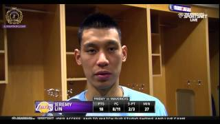 Jeremy Lin Post game interview - They shot the hell out of the ball | Lakers vs Mavericks