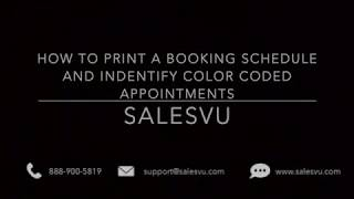 SalesVu - Booking schedule and color coded appointments
