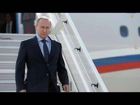 Прилет Владимира Путина в Италию. Полное видео