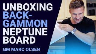 Unboxing Backgammon Neptune Board