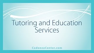 Tutoring and Education at Cadenza Center for Psychotherapy & the Arts