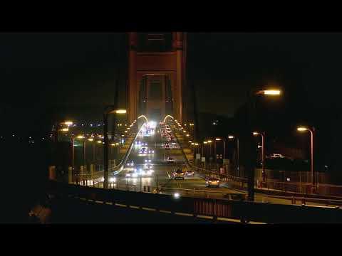 Traffict On Bridge at Night -HD