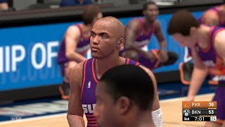 NBA 2K19 - Charles Barkley Real Face MOD for PC - All-Time Suns vs All-Time Nets - Highlights