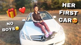 BUYING MY LITTLE SISTER HER DREAM CAR FOR CHRISTMAS! (NO BOYS RIDING) | VLOGMAS