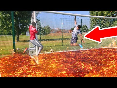 THE FLOOR IS LAVA FOOTBALL CHALLENGE **IMPOSSIBLE TO DO**