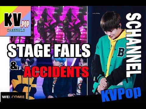 KPOP IDOLS 》STAGE FAILS & ACCIDENTS (Blood,Sweat,Tears)[BTS EXO WANNA ONE BLACK PINK TWICE ...]