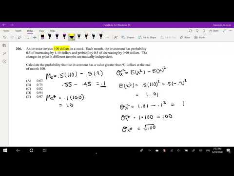 SOA Exam P Question 306 | Probability of Normal Distribution ...