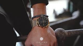 Sem Lewis Metropolitan Northwick Park kronografklocka för män guld/guld