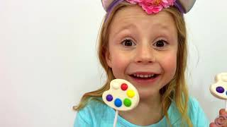 Nastya and dad - a story for kids about harmful sweets and candies