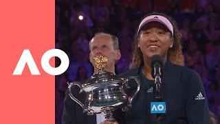 Naomi Osaka championship-winning speech (F)   Australian Open 2019