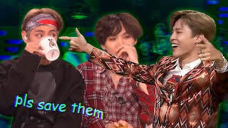BTS being BTS on talk shows