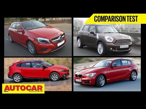 Merc A Class Diesel Vs Volvo V40  Vs Mini Countryman D | Comparison Test | Autocar India