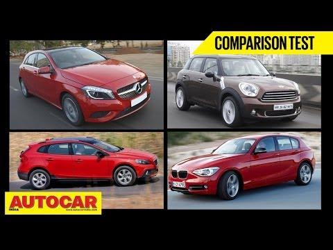 Merc A Class Diesel Vs Volvo V40  Vs Mini Countryman D | Comparison Test | Autocar India