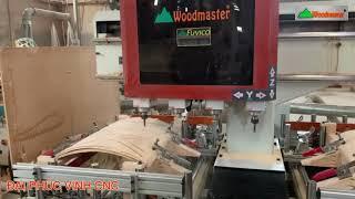 MÁY CNC MỘNG ÂM 4 Trục WOODMASTER Cắt Cnc làm tựa ghế ván Plywood tuyệt đẹp