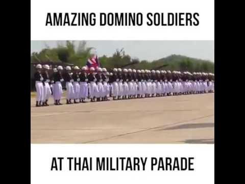 תרגילי סדר מדהימים בצבא התאילנדי
