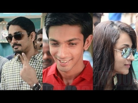 Vishal, Arya, Atharva, Siddharth, Anirudh register their votes #TNElections2016
