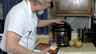 London Broil Pressure Cooker Meal