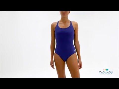 Bañador de natación para mujer LEONY AZUL Nabaiji