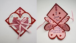 DIY Handmade Heart Pop Up Card For Valentines Day / Anniversary | Love Card | Card For Scrapbook
