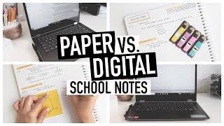 PAPER Vs. DIGITAL NOTE TAKING | How I Use BOTH In University