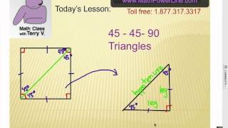 How To Solve Special Right Triangles: 45-45-90