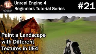 20 How to Create a Landscape Material in UE4 | Unreal Engine 4